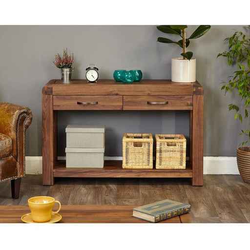 Shiro Walnut Console Table - Simply Utopia
