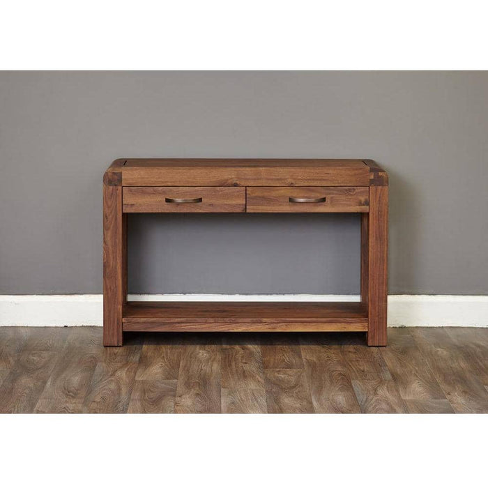 Shiro Solid Walnut 2 Drawer Console Table - Simply Utopia