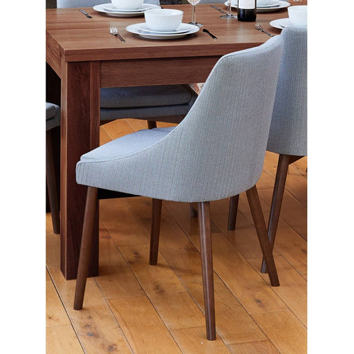 Walnut Grey Chair (Pack of two) - Simply Utopia