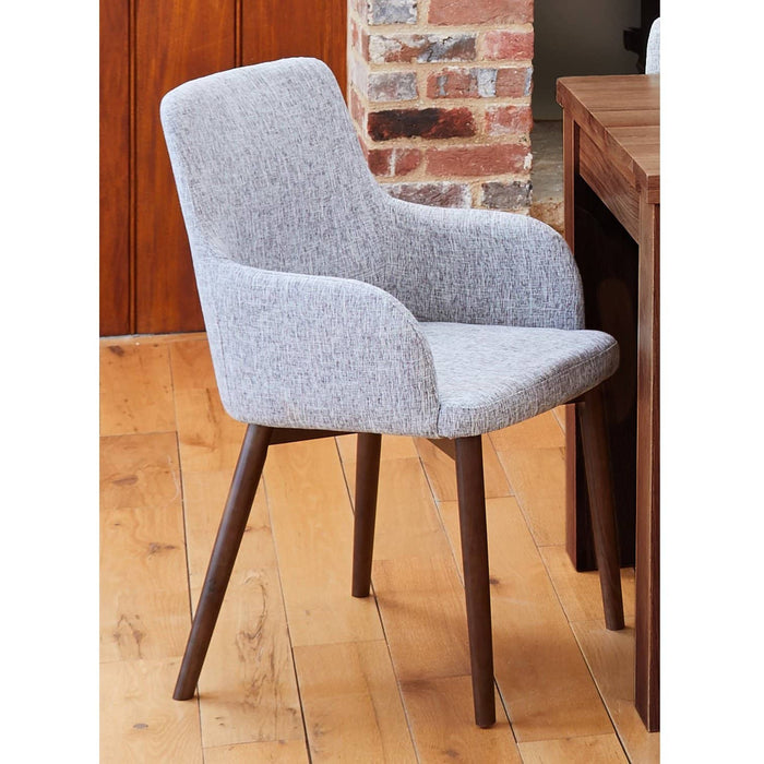 Walnut Light Grey Chair (Pack of two) - Simply Utopia