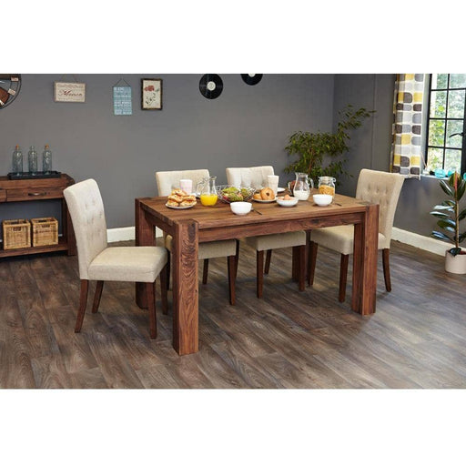 Walnut 150cm Dining Table (4/6 Seater) - Simply Utopia