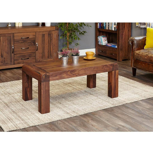 Shiro Solid Walnut Medium Open Coffee Table - Simply Utopia