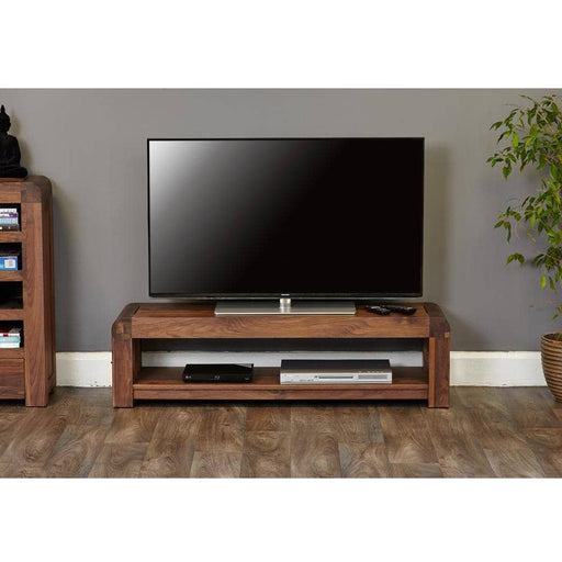 Shiro Walnut Low TV Cabinet - Simply Utopia