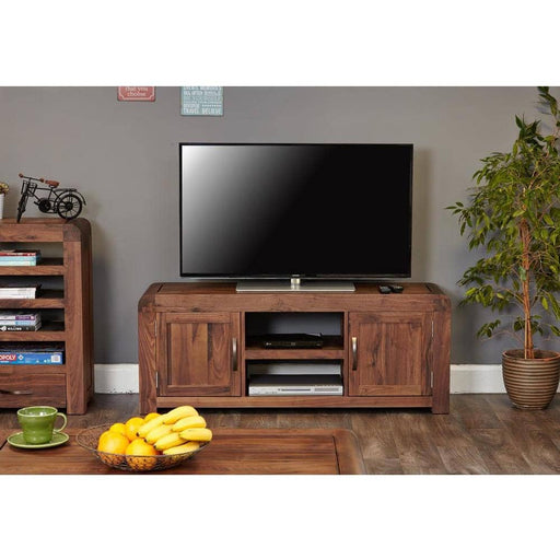 Shiro Walnut Widescreen Television Cabinet - Simply Utopia
