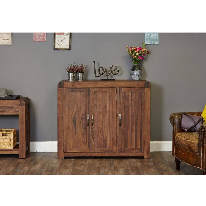 Shiro Walnut Extra Large Shoe Cupboard - Simply Utopia