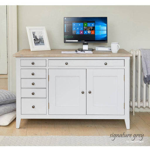 Signature Solid Wooden Hidden Home Office Desk / Sideboard - Simply Utopia
