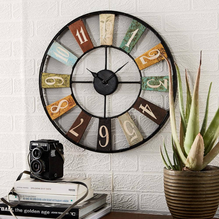 Archie Reclaimed Industrial Style Metal Clock - Simply Utopia