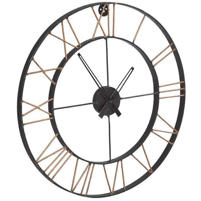 Lincon Industrial Style Up Cycled Metal Large Clock - Simply Utopia