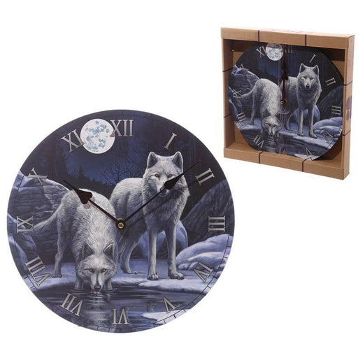 Fantasy Wolf Warriors of Winter Decorative Wall Clock - Simply Utopia