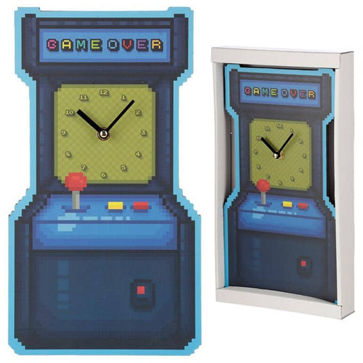 Fun Retro Arcade Game Shaped Wall Clock - Simply Utopia