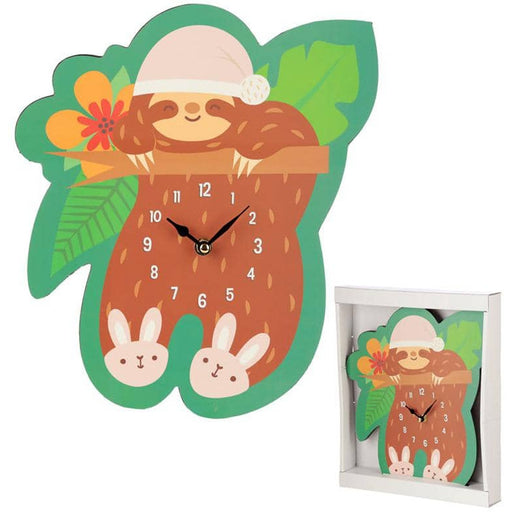 Fun Sleepy Sloth Shaped Wall Clock - Simply Utopia