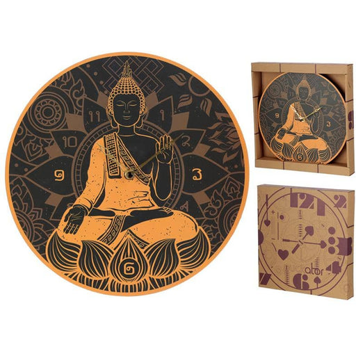 Novelty Thai Buddha Shaped Wall Clock - Simply Utopia