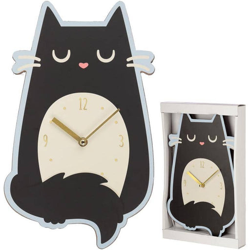 Fun Feline Fine Cat Shaped Wall Clock - Simply Utopia