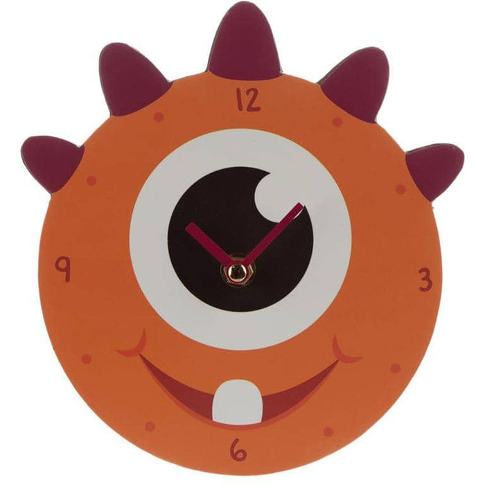 Decorative Monster Monstarz Orange Wall Clock - Simply Utopia