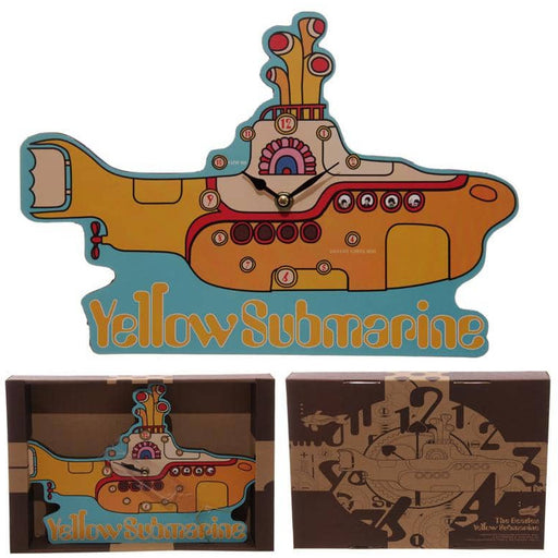 Funky Beatles Yellow Submarine Wall Clock - Simply Utopia