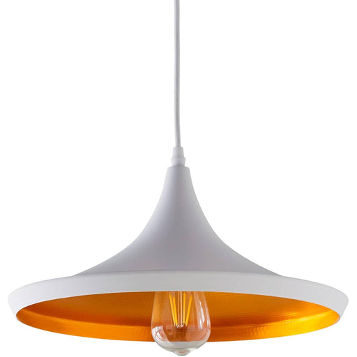 White and Gold Over-Table Pendant - Simply Utopia
