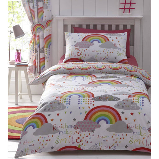 Clouds And Rainbows Curtains Pencil Pleat - Simply Utopia