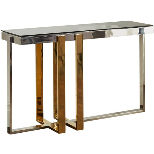 Nexus Gold and Silver Console Table - Simply Utopia