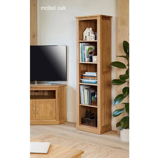 Mobel Oak Narrow Bookcase - Simply Utopia
