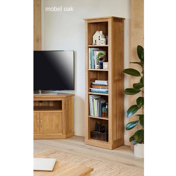 Mobel Solid Oak Narrow Bookcase - Simply Utopia