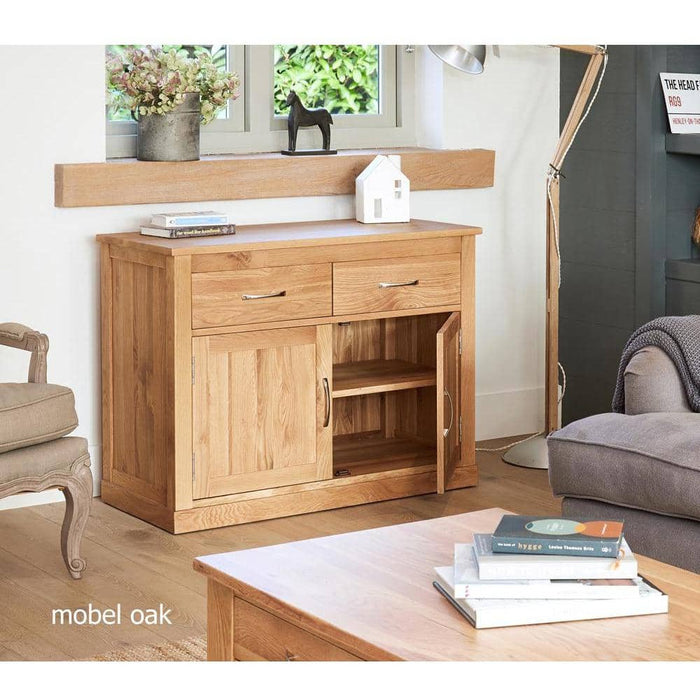 Mobel Solid Oak 2 Door 2 Drawer Small Sideboard - Simply Utopia