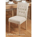 Oak Flare Back Upholstered Dining Chair - Biscuit (Pack of Two) - Simply Utopia