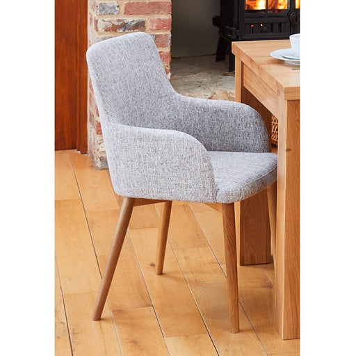 Oak Light Grey Chair (Pack of two) - Simply Utopia