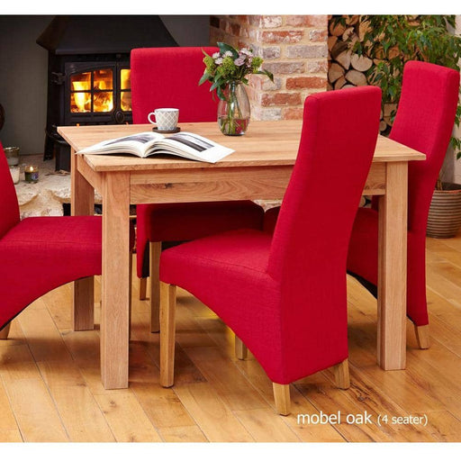 Mobel Oak Dining Table (4 Seater) - Simply Utopia