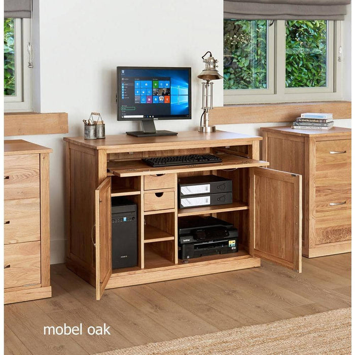 Mobel Solid Oak Hidden Home Office / Sideboard - Simply Utopia