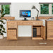 Mobel Solid Oak Twin Pedestal 6 Drawer 1 Door Computer Desk - Simply Utopia
