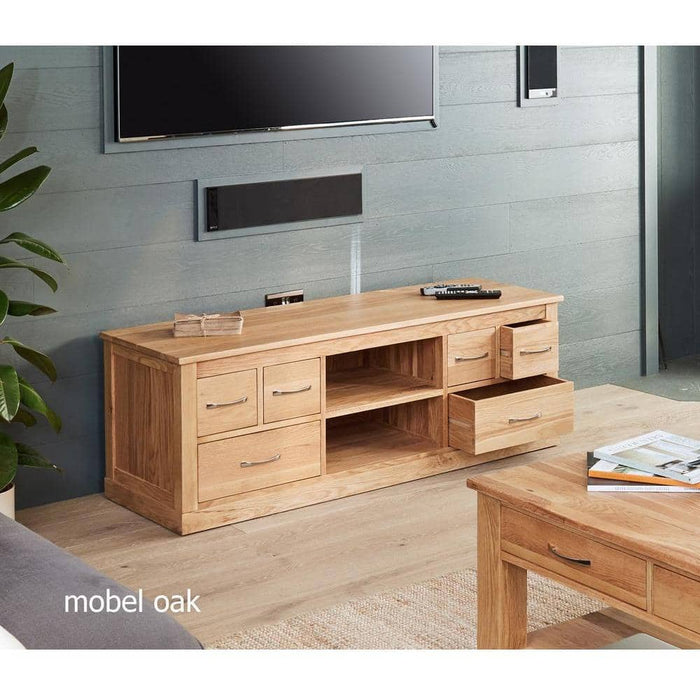 Mobel Oak Widescreen Television Cabinet - Simply Utopia