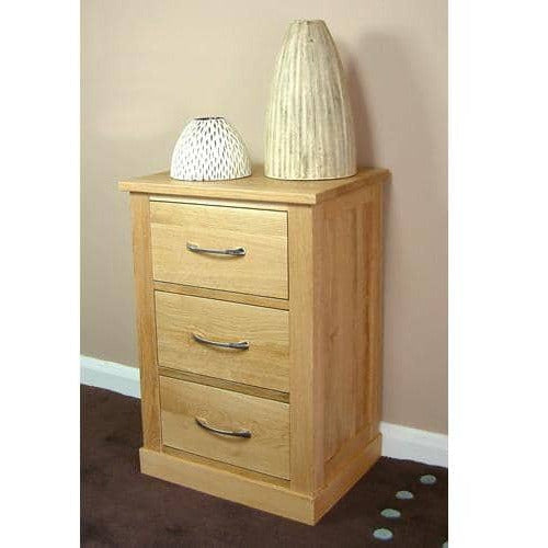 Mobel Oak Three Drawer Lamp Table - Simply Utopia