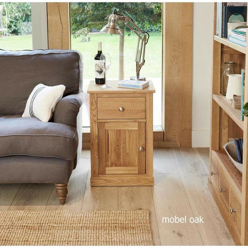 Mobel Oak One Door one Drawer Lamp Table - Simply Utopia