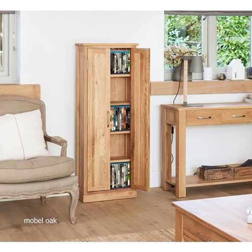 Mobel Oak DVD Storage Cupboard - Simply Utopia