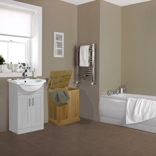 Mobel Solid Oak Laundry Bin - Simply Utopia
