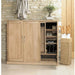 Mobel Oak Extra Large Shoe Cupboard - Simply Utopia
