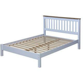 "Capri Double 4'6"" slatted lowend bedstead - Simply Utopia"