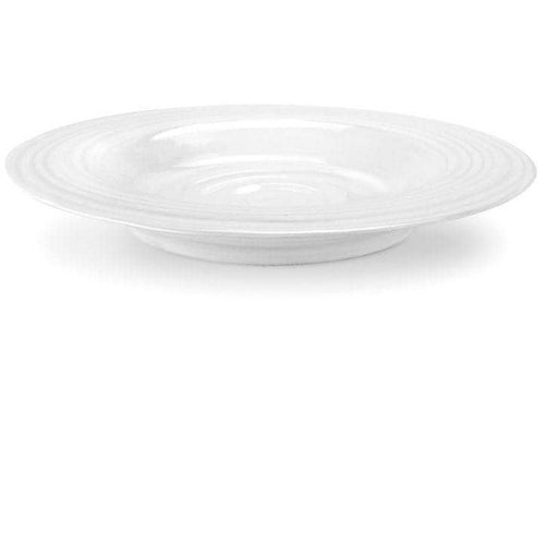 Sophie Conran for Portmeirion White Rimmed Soup Plate Set of 4 - Simply Utopia