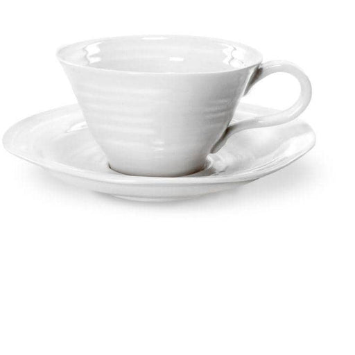 Sophie Conran for Portmeirion White Tea Cup and Saucer Set of 4 - Simply Utopia