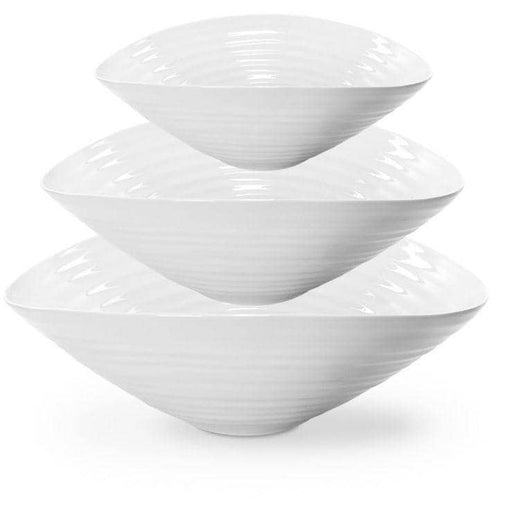 Sophie Conran for Portmeirion White Salad Bowls set of 3 - Simply Utopia