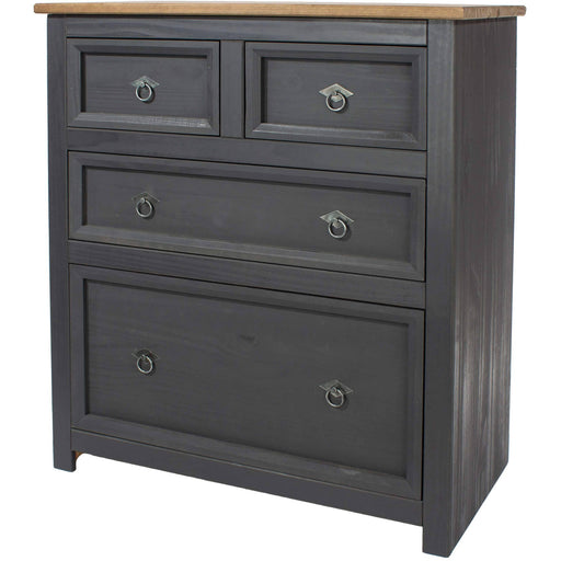 Corona Carbon 2+2 drawer chest - Simply Utopia