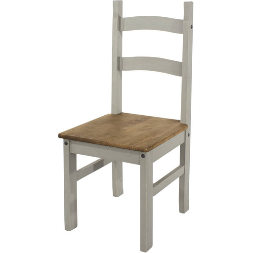 Corona Grey solid pine chairs (pair) - Simply Utopia