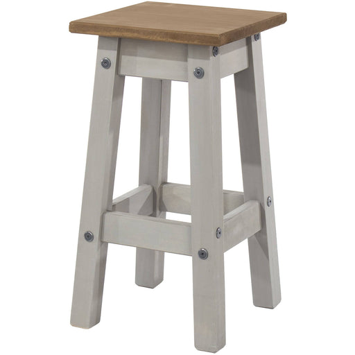 Corona Grey low kitchen stool (pair) - Simply Utopia