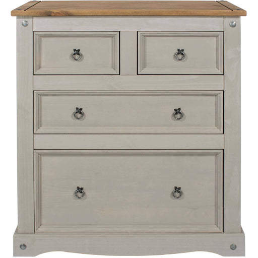 Corona Grey 2+2 drawer chest - Simply Utopia
