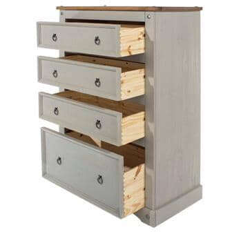 Corona Grey 4 drawer chest - Simply Utopia
