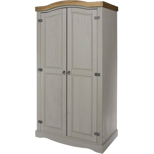 Corona Grey 2 door wardrobe - Simply Utopia