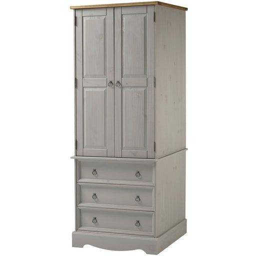 Corona Grey 2 door, 3 drawer wardrobe - Simply Utopia
