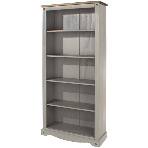 Corona Grey tall bookcase - Simply Utopia