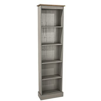 Corona Grey tall narrow bookcases - Simply Utopia