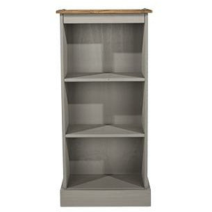 Corona Grey low narrow bookcases - Simply Utopia